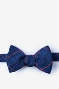Blue Cotton Harley Self-Tie Bow Tie