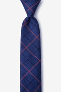 Blue Cotton Harley Skinny Tie