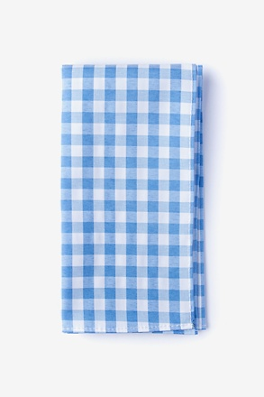 Heath Blue Pocket Square