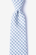 Blue Cotton Huron Extra Long Tie