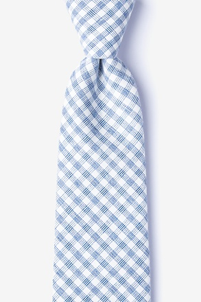 Huron Blue Extra Long Tie