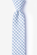 Blue Cotton Huron Skinny Tie