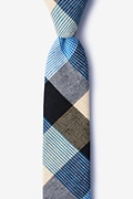 Blue Cotton Jules Skinny Tie