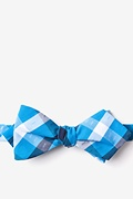 Blue Cotton Kennewick Diamond Tip Bow Tie