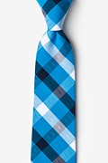 Blue Cotton Kennewick Extra Long Tie