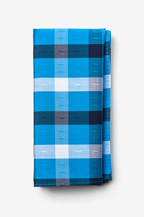 Kennewick Blue Pocket Square