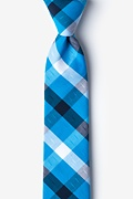 Blue Cotton Kennewick Skinny Tie