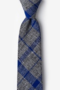 Blue Cotton Kirkland Extra Long Tie