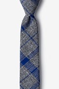 Blue Cotton Kirkland Skinny Tie