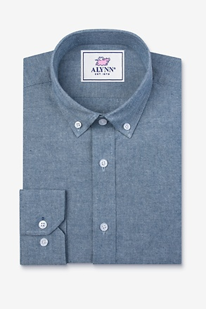 _Lucas Blue Slim Fit Casual Shirt_