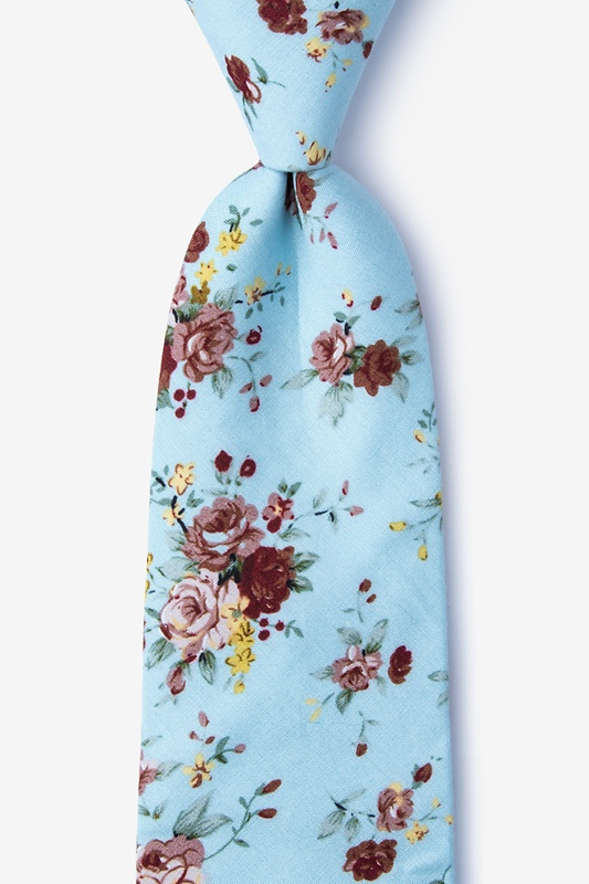 Luther Blue Extra Long Tie Photo (0)