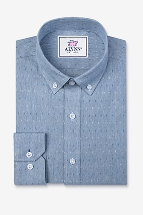 _Mason Blue Slim Fit Casual Shirt_