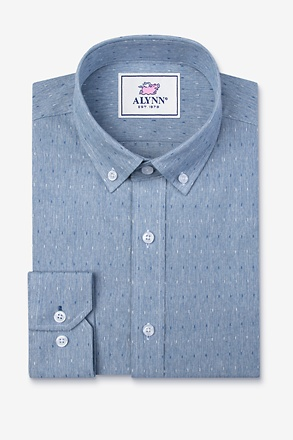 Mason Blue Slim Fit Casual Shirt