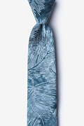 Blue Cotton Medina Skinny Tie