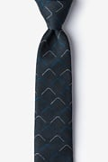 Blue Cotton Mesa Skinny Tie