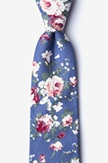Blue Cotton Nottingham Extra Long Tie