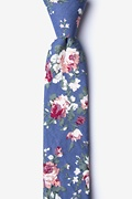 Blue Cotton Nottingham Skinny Tie