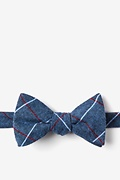 Blue Cotton Phoenix Butterfly Bow Tie