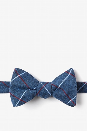 Phoenix Blue Self-Tie Bow Tie
