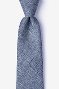 Blue Cotton Port Extra Long Tie