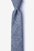 Blue Cotton Port Skinny Tie