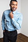 Porter Blue Classic Fit Dress Shirt