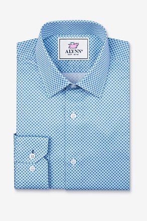 _Porter Blue Slim Fit Dress Shirt_