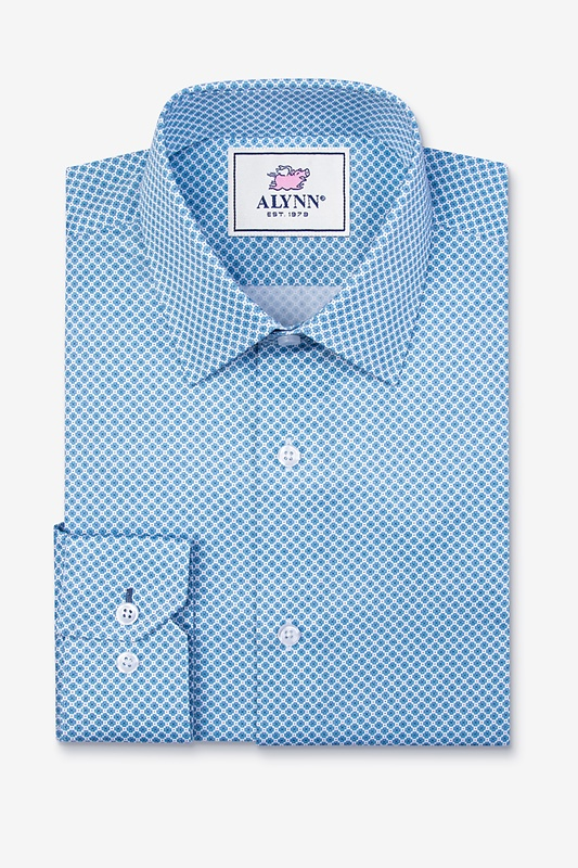 Porter Blue Slim Fit Dress Shirt Photo (0)