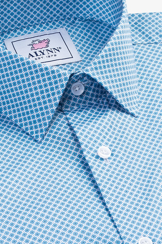 Porter Blue Slim Fit Dress Shirt Photo (4)