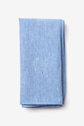 Blue Cotton Teague Pocket Square