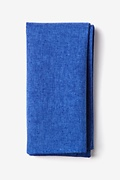 Blue Cotton Tioga Pocket Square