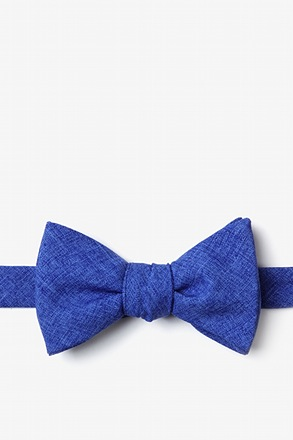 Tioga Blue Self-Tie Bow Tie