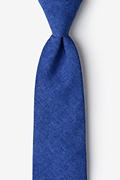 Blue Cotton Tioga Tie