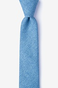 Blue Cotton Trenton Skinny Tie