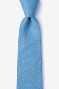 Blue Cotton Trenton Tie