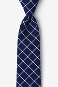 Blue Cotton Tucson Extra Long Tie