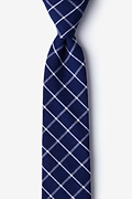 Blue Cotton Tuscon Skinny Tie
