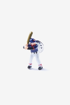 _Baseball Player Blue Lapel Pin_