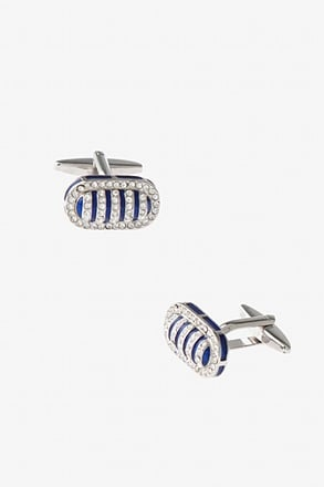 _Bedazzled Framed Bean Cufflinks_