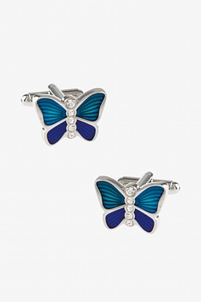 Bejeweled Butterfly Cufflinks