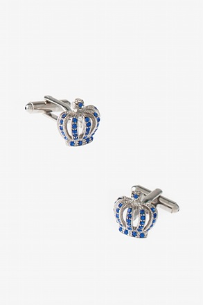 Bejeweled Crown Cufflinks