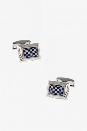_Blitz Rectangular Blue Cufflinks_