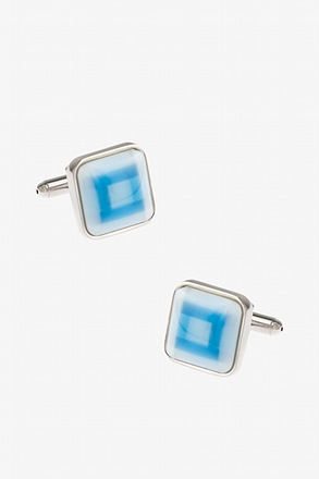 Bowed Patterned Square Cufflinks