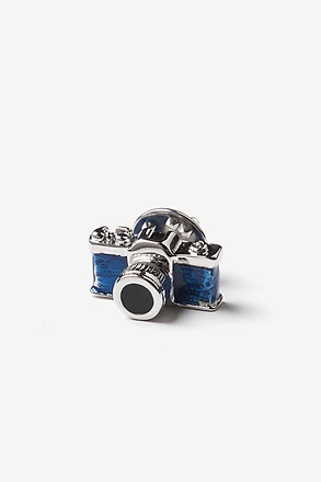 Camera Blue Lapel Pin