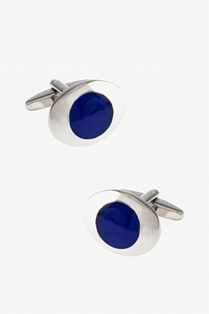 Colored Rounded Oval Cufflinks