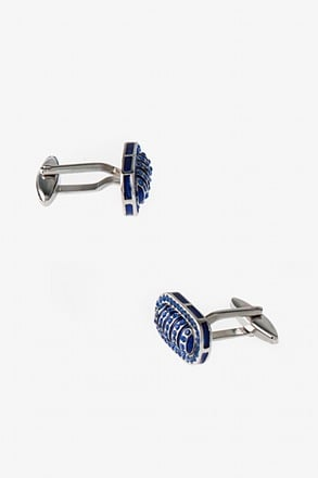 _Flashy Oval Cufflinks_