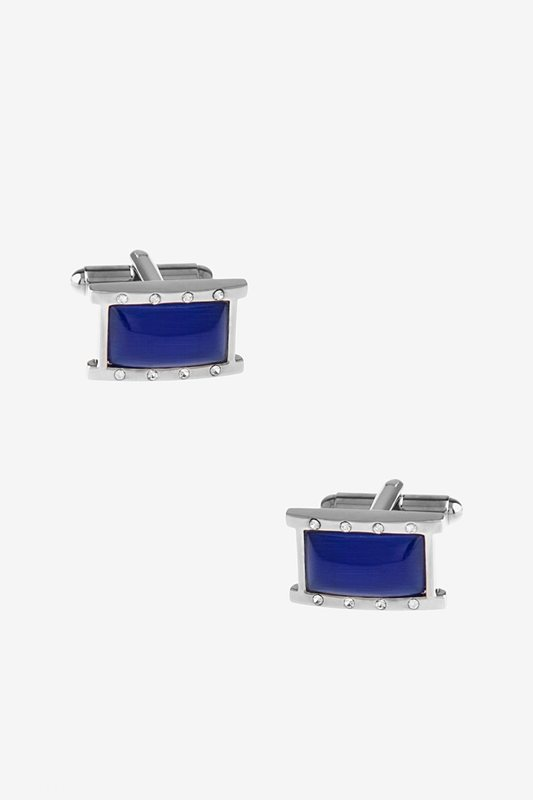 Glitzy Rectangular Gemstone Cufflinks