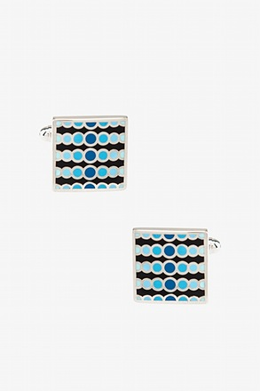 Groovy Dotted Square Cufflinks