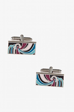 Lively Colored Rectangle Cufflinks