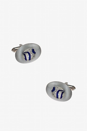 Luminous Oval Glass Cufflinks